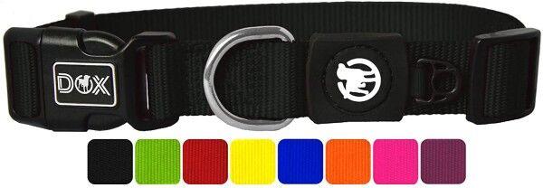 DDOXX Hundehalsband Nylon schwarz Gr. M