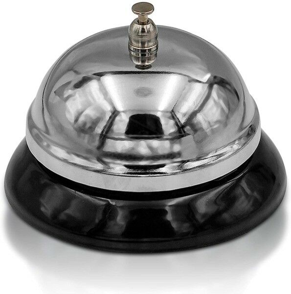 Rezeptionsglocke Tisch Klingel Service Glocke 85x60mm
