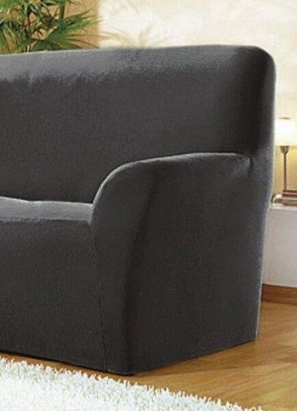 Sofabezug Eckbezug 2-Sitzer Bezug Anthrazit